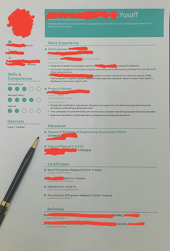 sample resume ontrenz