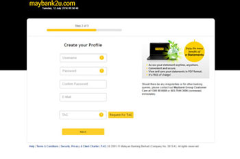 Maybank2u Profile