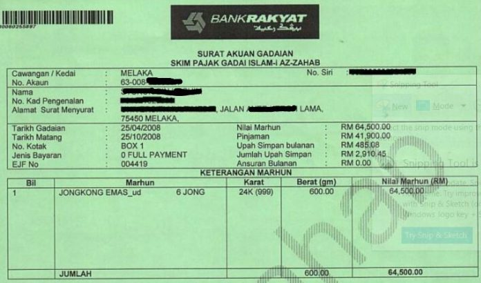 Surat-Pajak-Gadai-Emas-Shah-Alam-Selangor